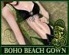 Boho Beach Gown Green