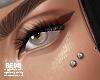 Double dermal piercings