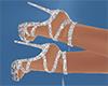 Silver sparkle shoes