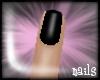 -Jez- Black short nails