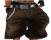 LV Brown Baggy Shorts