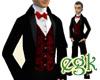 [egk] Tuxedo Red+Silver