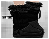 Black Cute Fur Boots