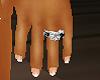 [JZ] black silver ring