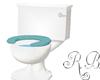 Toilet  Blue Seat
