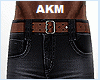 akmJEANS X BROWN LEATHE