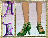 Pumps High Laced Green