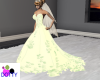 lace yellow wedding gown