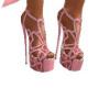D* Pink Heart Heels