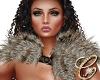 Fur Shawl White