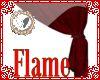 rich red velvet drapes