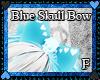Blue Skull Bow