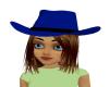 Blue Cowgirl Hat/Auburn
