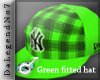 [BE] Green fitted hat