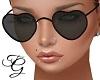 Black Heart Glasses