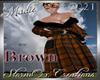 !a Tartan Coat Brown