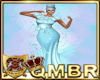 QMBR Gown Floral Blu Ice