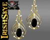 IS~Gold & Onyx Earrings