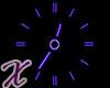 *X Analog Neon Clock