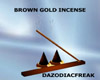 Brown Gold Incense