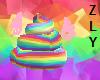 flying rainbow poo