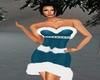 Santa Blue X-Mas Dress