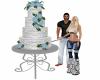 Winter Blue Wedding Cake