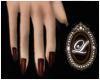 LIZ-Deep red nails