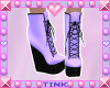 Wedge Boots | Purple