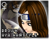 !T Brown Aya hairstyle