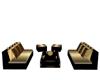 Gold sofa set [L]