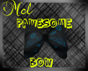 Pawesome Bow in black