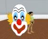 add a clown face