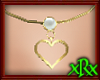 Heart Loop Necklace gld