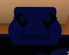Lu's Blue Rose Chair