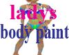 ladys body paint