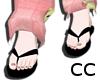 CC| Blk Kawaii Flip Flop