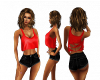 Red Black Short Set