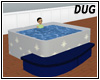 (D) Snow Hot Tub Blue