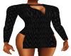 Black Scale Mini Dress