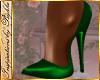 I~Green Satin Pumps