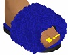 Fur Slippers Blue