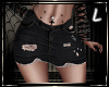 Black Jeans Skirt L