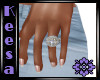 Amethyst n Diamond Ring