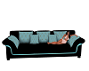 Black And Teal Couch