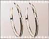 A | Gold hoops