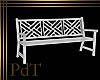 PdT White Garden Bench
