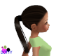 hat hair/ ponytail brown