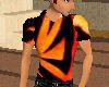 black and orange polo