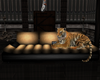 Brn/Cream Tiger Sofa